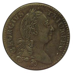 1783 GEORGIVS TRIUMPHO TOKEN MS obverse