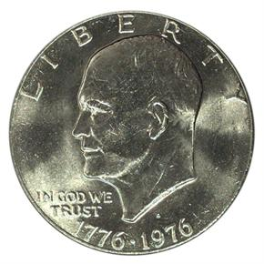 1976 D TYPE 2 $1 MS obverse