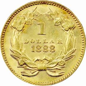 1888 G$1 MS reverse