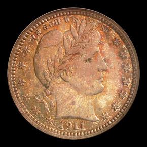 1911 S 25C MS obverse