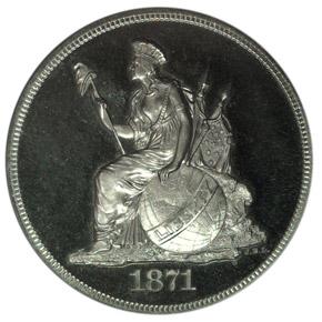 1871 J-1124 S$1 PF obverse