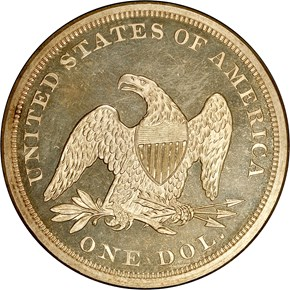 1860 S$1 PF reverse