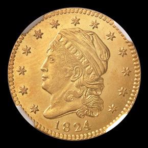 1824/1 $2.5 MS obverse