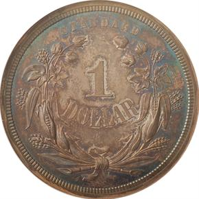 1870 J-1009 S$1 PF reverse