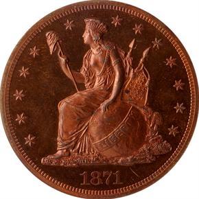 1871 J-1148 S$1 PF obverse
