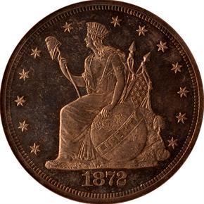 1872 J-1215 T$1 PF obverse