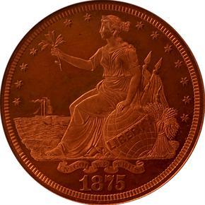 1875 J-1424 T$1 PF obverse
