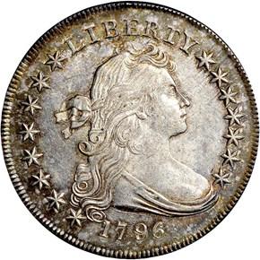 1796 S$1 MS obverse