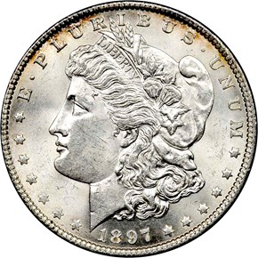1897 S$1 MS obverse