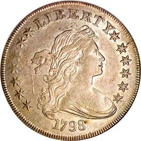 1798 LARGE EAGLE S$1 MS obverse