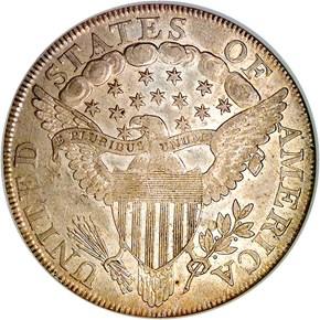 1798 LARGE EAGLE S$1 MS reverse
