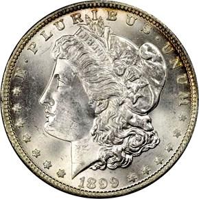 1899 O S$1 MS obverse
