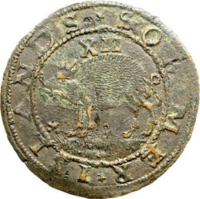c.1616 SMALL SAIL SOMMER ISLANDS 1S MS obverse