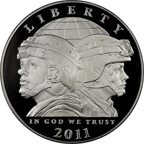 2011 P U.S. ARMY S$1 PF obverse