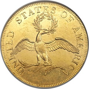1797 SMALL EAGLE BD-1 $10 MS reverse