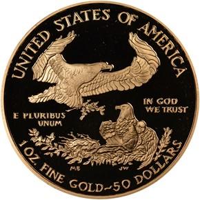 2008 W EAGLE G$50 PF reverse