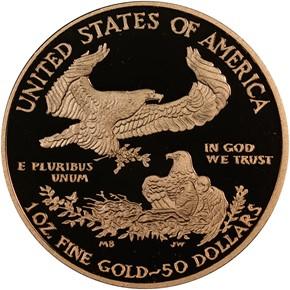2011 W EAGLE G$50 PF reverse