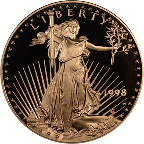 1998 W EAGLE G$50 PF obverse