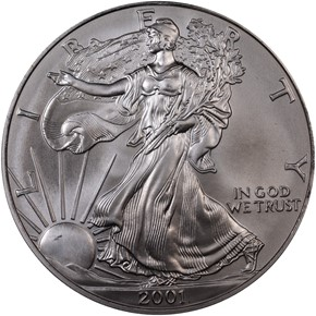 2001 EAGLE S$1 MS obverse