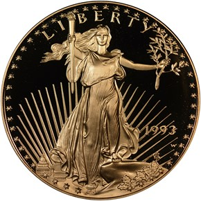 1993 W EAGLE G$50 PF obverse