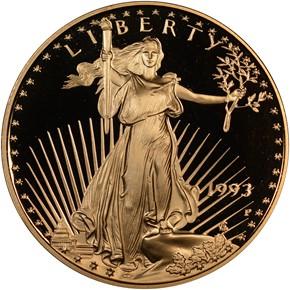 1993 P EAGLE G$25 PF obverse