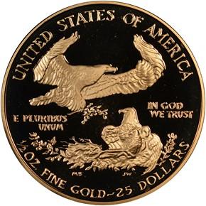 1993 P EAGLE G$25 PF reverse