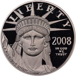 2008 W EAGLE P$100 PF obverse