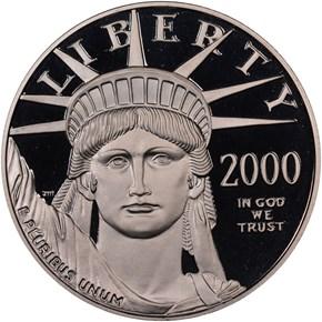 2000 W EAGLE P$100 PF obverse