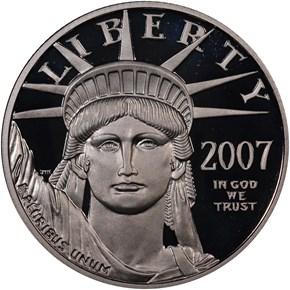 2007 W EAGLE P$50 PF obverse