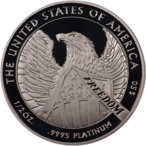 2007 W EAGLE P$50 PF reverse