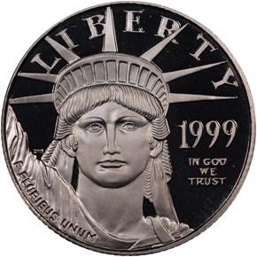 1999 W EAGLE P$25 PF obverse