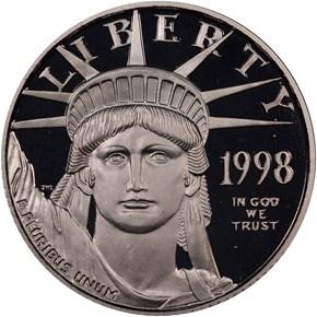 1998 W EAGLE P$25 PF obverse
