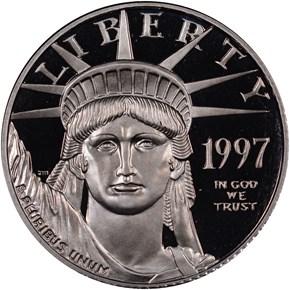 1997 W EAGLE P$25 PF obverse