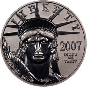 2007 W REVERSE PF EAGLE 10TH ANNIVERSARY P$50 PF obverse