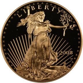 2008 W EAGLE G$25 PF obverse
