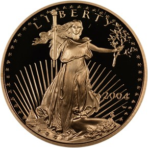 2004 W EAGLE G$10 PF obverse