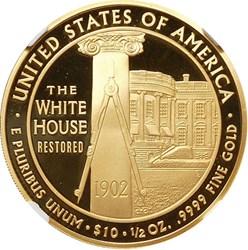 2013 W EDITH ROOSEVELT G$10 PF reverse