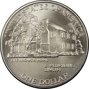 1990 W EISENHOWER S$1 MS reverse