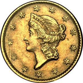 1852 D G$1 MS obverse