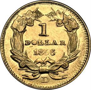 1856 D G$1 MS reverse