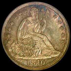 1840 NO DRAPERY H10C MS obverse