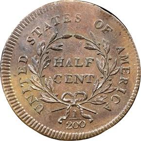 1795 PLAIN EDGE 1/2C MS reverse