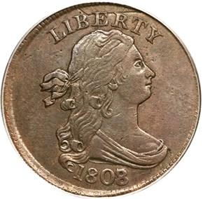 1808/7 1/2C MS obverse