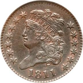 1811 1/2C MS obverse