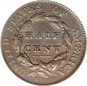1811 1/2C MS reverse