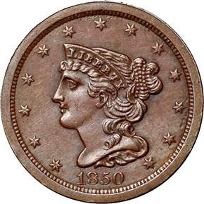 1850 C-1 1/2C MS obverse