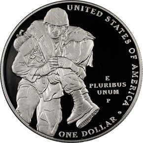 2011 P MEDAL OF HONOR S$1 PF reverse