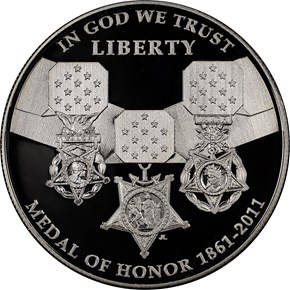 2011 P MEDAL OF HONOR S$1 PF obverse