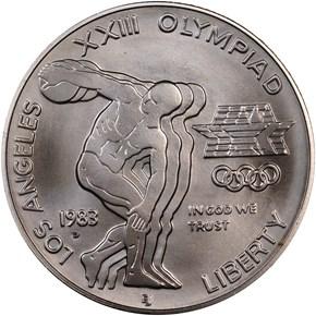 1983 D OLYMPICS S$1 MS obverse