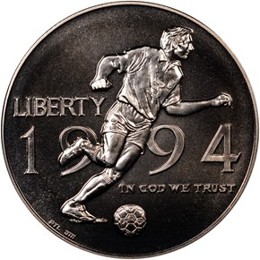 1994 D WORLD CUP 50C MS obverse